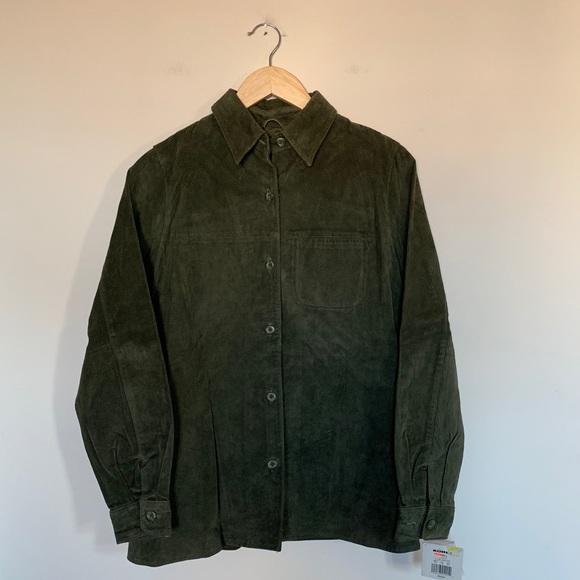 Sonoma Jackets Coats Womens Olive Green Leather Jacket Coat Nwt
